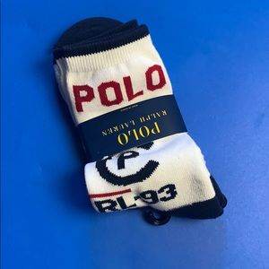 Polo CPRL 93 spell out white crew socks